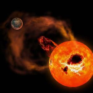 """せいめい望遠鏡による赤色矮星の観測で、最大級の""""太陽フレア""""の約20倍もある""""スーパーフレア""""を検出! 太陽でも起こりうる現象。"""
