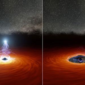 """""""ブラックホールコロナ""""からX線の輝きが消えたのは破壊された恒星が原因?"""