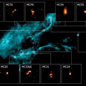 """誕生直後の原始星""""ファーストコア""""を発見! アルマ望遠鏡のアタカマ・コンパクト・アレイだからできたこと。"""