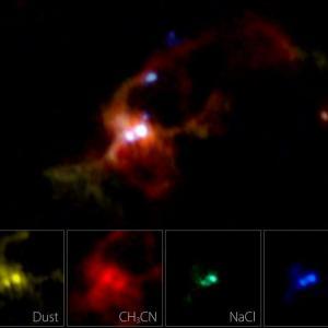 """大質量原始星を育むガス円盤を探る上で""""塩""""が重要なツールになるようです。"""