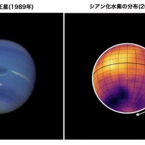 地上の大型望遠鏡を用いることで可能になる! 遠方の海王星に見つかったのは赤道上に分布するシアン化水素の帯でした。
