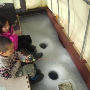 ワカサギ釣り第一弾、肩慣らし:阿寒湖