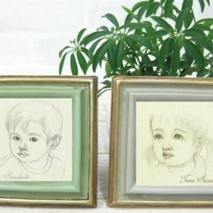 絵画販売・鉛筆画・原画「子供の顔の素描」(額は付いていません絵のみです。)