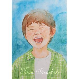 絵画販売・水彩画・原画「全力少年」