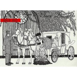 SOLDOUT・ペン画・原画「馬車と貴婦人」お買い上げいただきました。