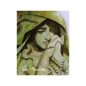 絵画販売・水彩・原画「マリア像」