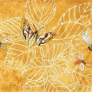 絵画販売・水彩画・原画「植物と昆虫」