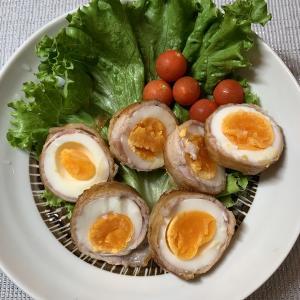 男の料理№26 肉まき卵と栗ご飯