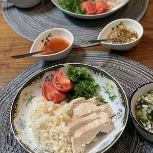 男の料理№49 ご飯が好き 長粒米で鶏飯作った