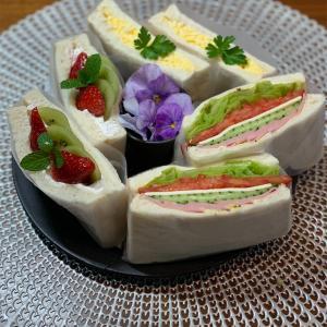 サンドイッチ弁当&19歳猫&黒川博行『煙霞』