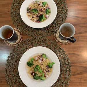 男の料理№60 タコとブロッコリーとアンチョビのパスタ
