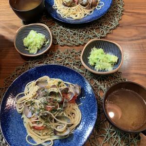 男の料理№62 アサリとフレッシュトマトのパスタ
