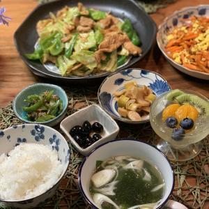 男の料理№73 回鍋肉 と 人参といり卵の炒め物