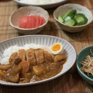 男の料理№87 明太子焼きそば & カツカレー