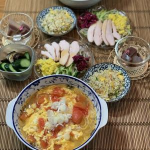 男の料理№90 トマトと卵のサンラータン風そうめん
