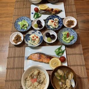 男の料理№106 ベビーホタテとマイタケの炊き込みご飯
