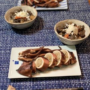 男の料理№112 イカ飯 & 牛筋煮込み