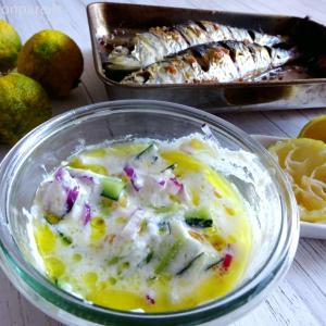 Tzatziki with sardines