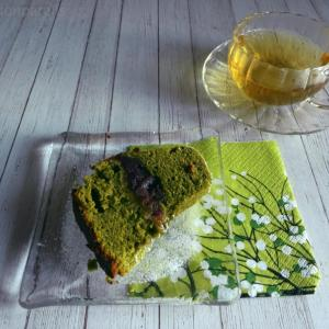 Matcha Adzuki butter cake