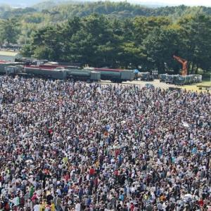 航空祭に20万人も!動けない大混雑でも見るのは上空(浜松基地は13万人