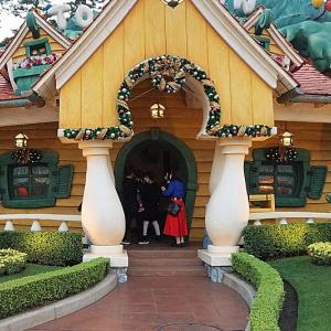 ミッキー家、ミニー家に飾ったクリスマスツリー