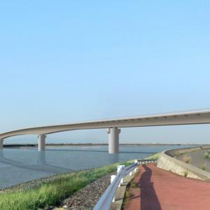 有明湾沿岸道路(六角川大橋)