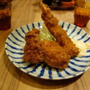 絶品カキフライ、カキバターのお店 豊洲市場のとんかつ小田保