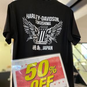 50%OFF!ハーレー徳島オリジナル Tシャツ、パーカー等