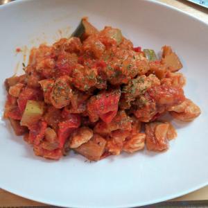 鶏むねと秋野菜のラタトゥイユ風