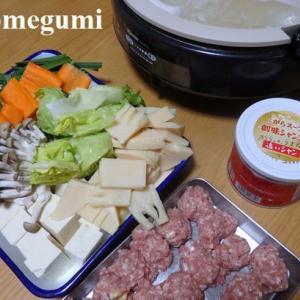 肉団子鍋にしたのに、今日は暖かい(_ _。)・・・シュン