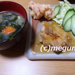 ミツカンカンタン酢で簡単鶏もも肉の甘酢照り焼き&タラモサラダ&カモミールを匂うムギ