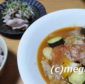 豚肉と夏野菜のカポナータ風&豚しゃぶ