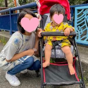 カワ(・∀・)イイ!!甚平姿の孫とママ
