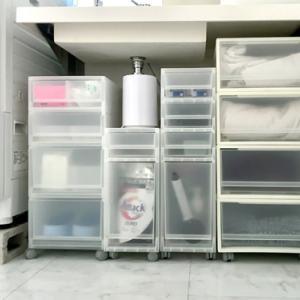 整理収納:MUJI 無印良品「ポリプロピレン収納シリーズ」で洗面台まわりのアイテムをスッキリ