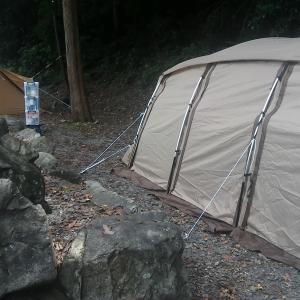 ogawaアポロン2泊目は、大津谷公園キャンプ場