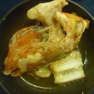 ウッカリカサゴの兜炊き
