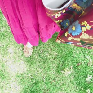 #今日のコーディネート#ティアードスカート#マキシスカート