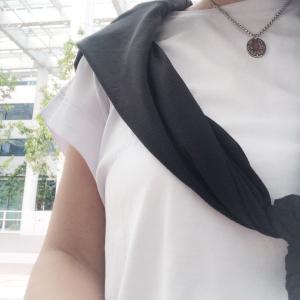 #今日のコーディネート #白Tシャツ #1000円 4サイズ