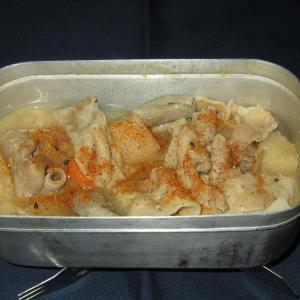 キャンプ飯レシピ:モツ煮こみ