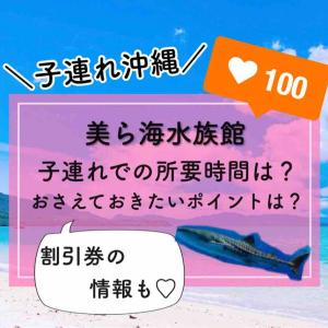 【子連れ沖縄】④美ら海水族館での所要時間や子連れでおさえておきたいポイントなど☆