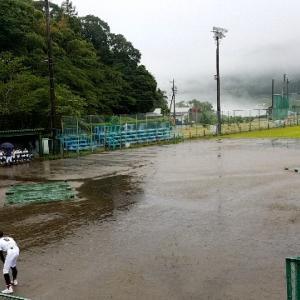 【野球】この雨の中。