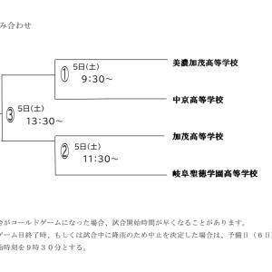 【ソフトボール】岐阜県高校男子組み合わせ。