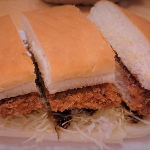 ボリュームあって美味しいコメダのみそカツパン 福岡サンドイッチ
