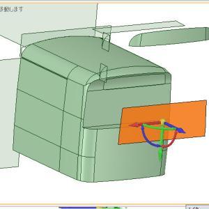 三菱ふそうモノコックバスG4ボディの前面行先表示器周りの造形