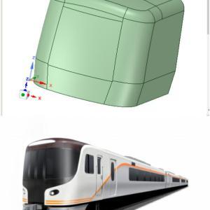 3D-CADの練習 JR東海のハイブリッド特急車
