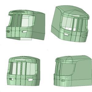 新年初投稿 3D-CADによるJR東海ハイブリッド特急車の予想図
