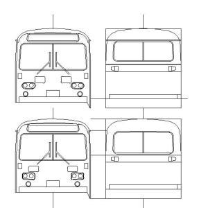 三菱ふそうG4ボディのCAD平面図