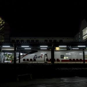 かみのやま温泉駅で憂さ晴らし
