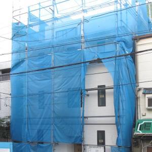 台東区西浅草木造4階建耐火建築物ホテルプロジェクト  外壁サイディング貼完了