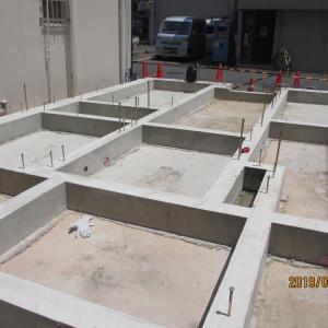 台東区西浅草木造4階建耐火建築物ホテルプロジェクト 基礎コンクリート脱型